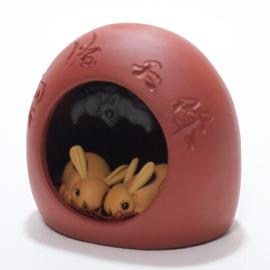 紫砂茶玩 ウサギとコウモリ