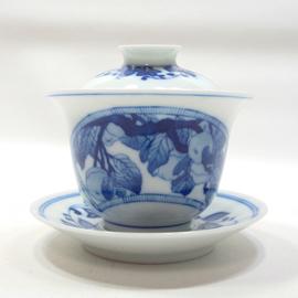 景徳鎮 手描き青花 蓋碗