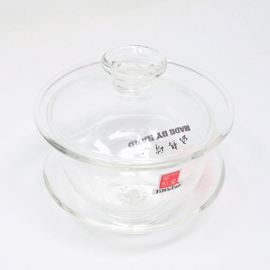 ガラス蓋碗