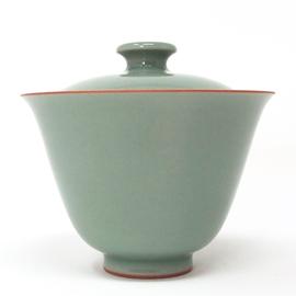 在山堂 劉傑 辛丑柴窯第二窯 青釉蓋碗